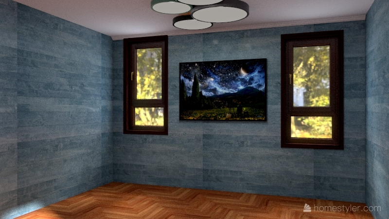 The cabin in the woods Interior Design Render