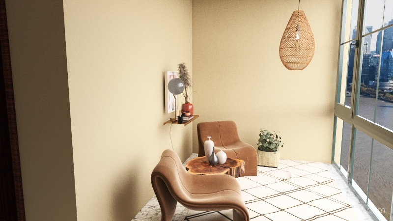 Three Story Interior Design Render
