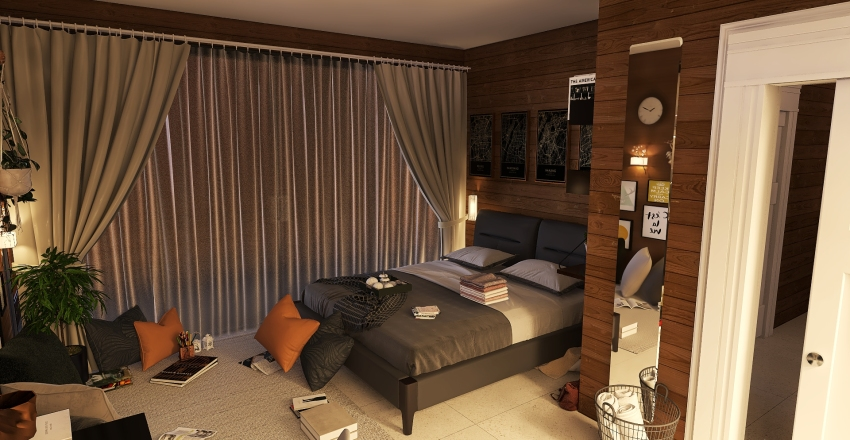 Old house reconstruction Interior Design Render