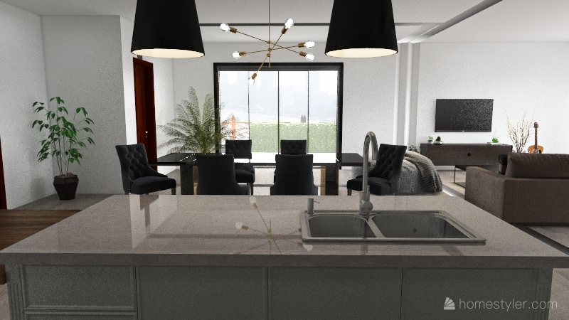 Luke's Apartment Interior Design Render