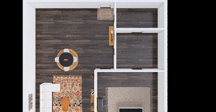 1 bedroom unit Interior Design Render