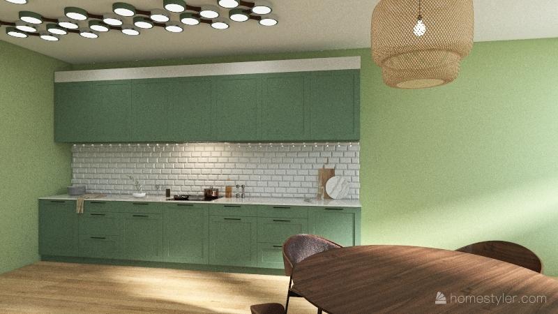 boho home Interior Design Render