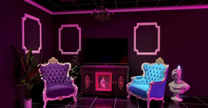 eclectic tropical Interior Design Render