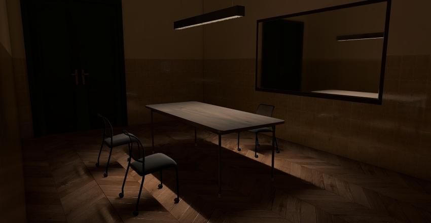 Pokój przesłuchań Interior Design Render