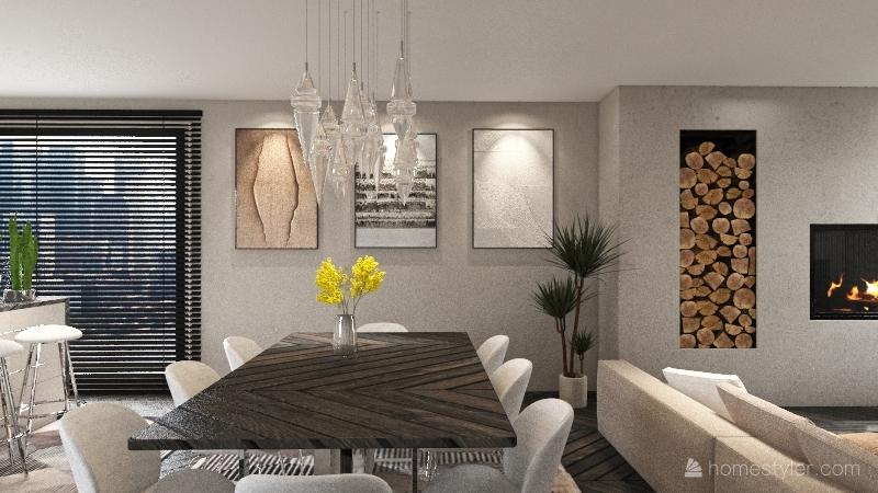Student Home Interior Design Render
