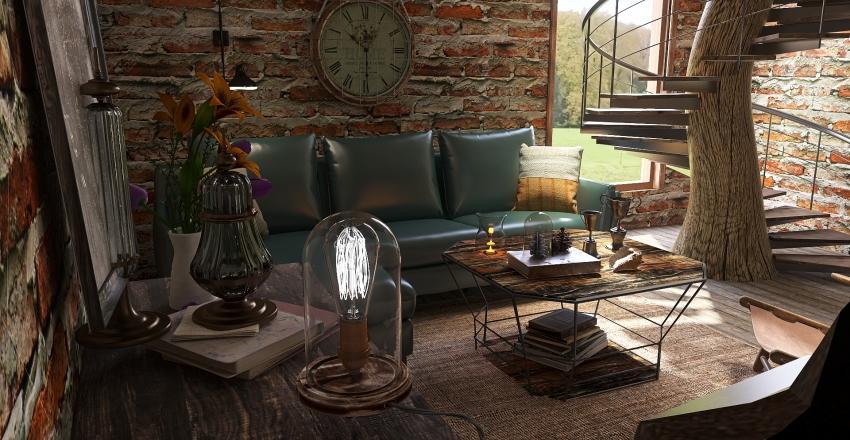 Retro Refurbish Interior Design Render
