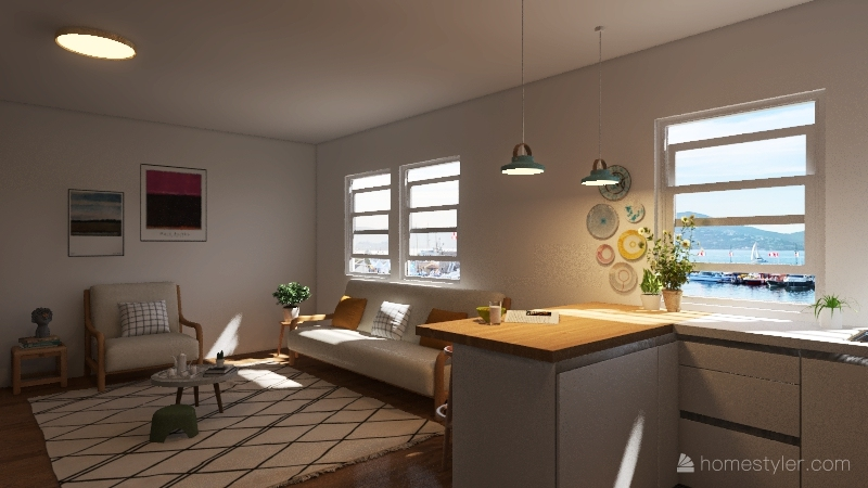 flowers & colors Interior Design Render