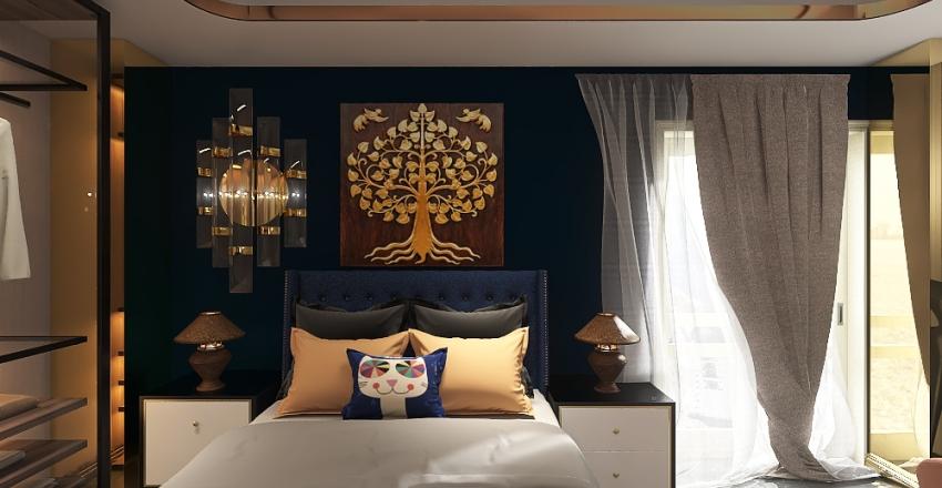 غرفة نوم Interior Design Render