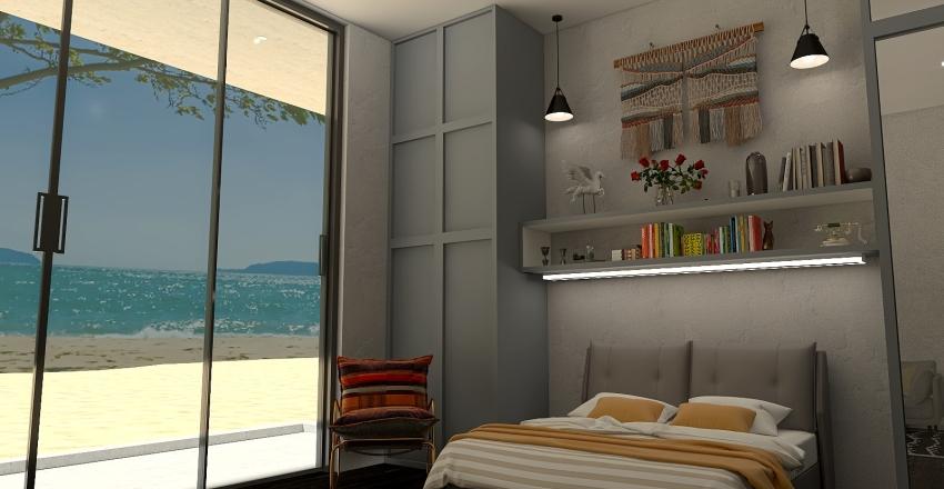 Cement Beach House Interior Design Render