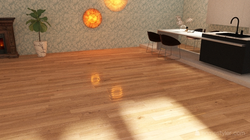 The house in the woods Interior Design Render