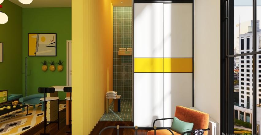 LIMA-LIMÓN con un toque Memphis Style Interior Design Render