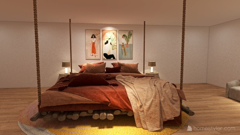 Neutral House Interior Design Render
