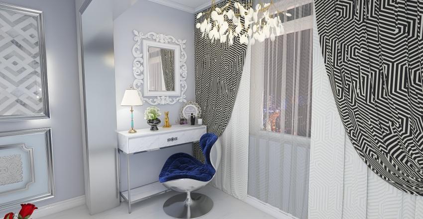 Гостиная  в стиле неоклассика Interior Design Render