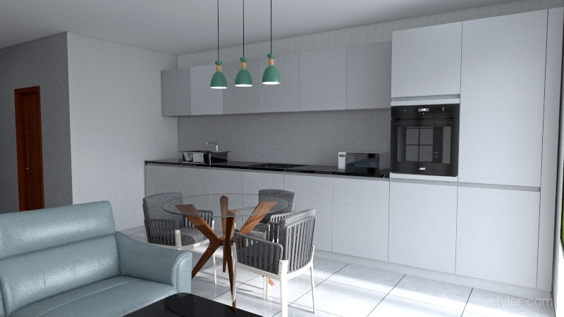 Кухня нова Interior Design Render
