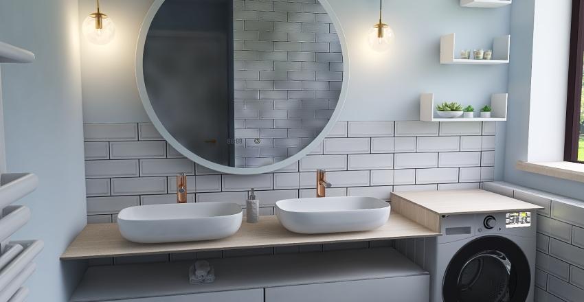Kitchen_blue Interior Design Render
