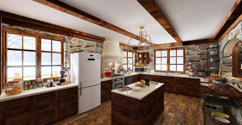 Chalet in the mountains Interior Design Render