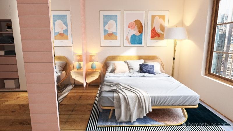 pink house Interior Design Render