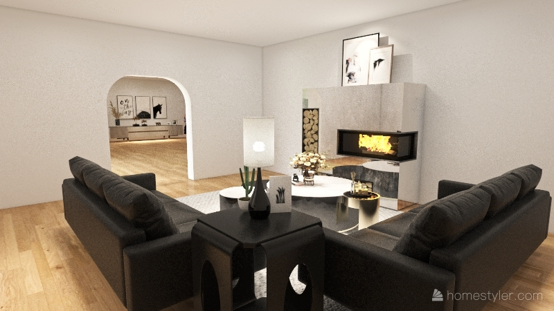 house #4(bottom floor only) Interior Design Render