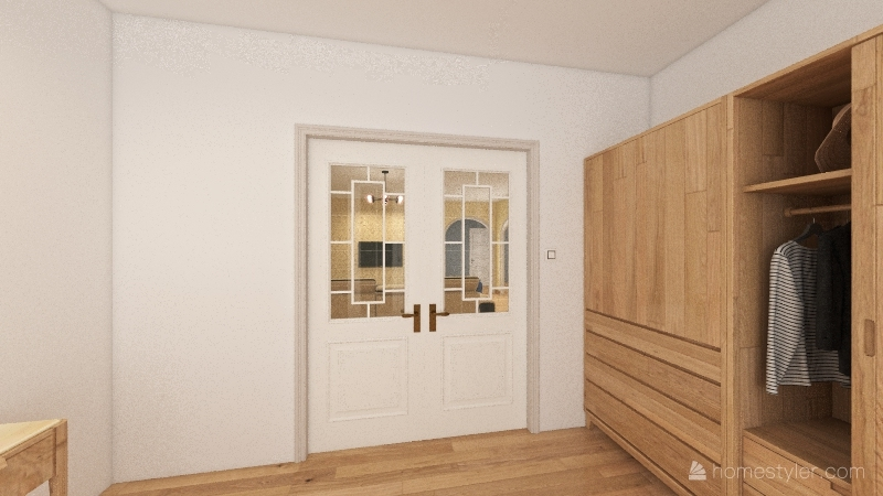 Due Livelli con finestra sul tetto Interior Design Render