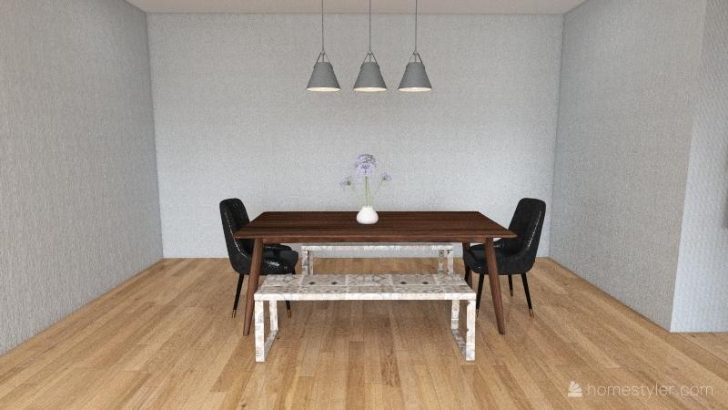Blue housee Interior Design Render