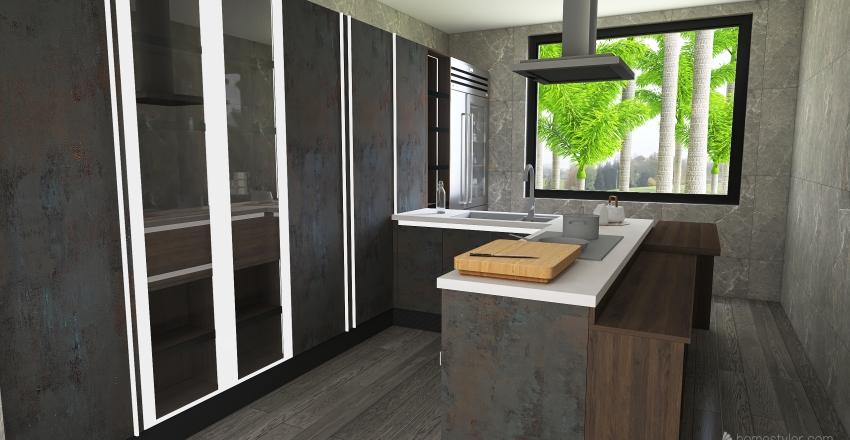 Mudanza reciente a la casa del campo Interior Design Render
