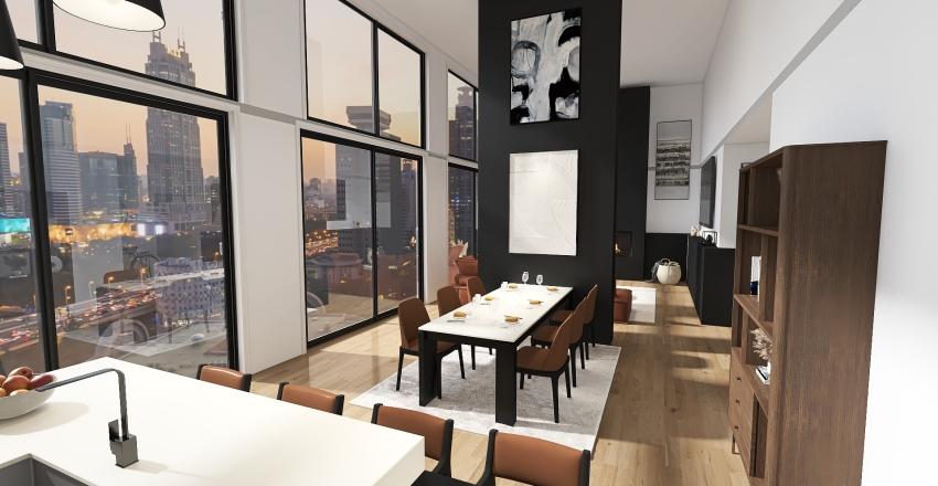 modern apartament Interior Design Render