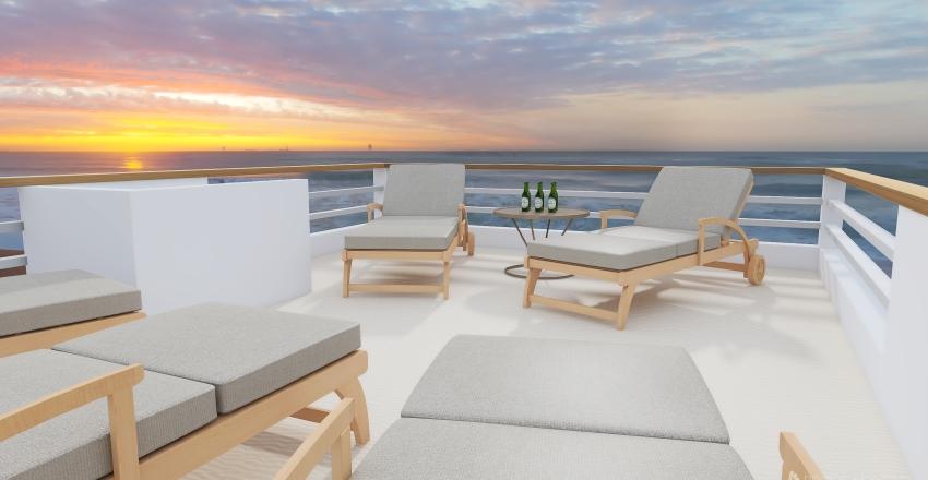 CHALANA COM EMBARQUE TRASEIRO Interior Design Render