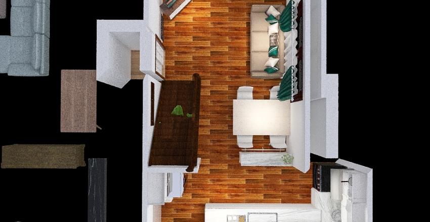 Cocina Blanca Interior Design Render