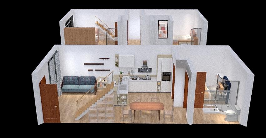 PROYECTO CASA REMODELADO Interior Design Render