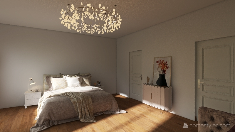 romantic Interior Design Render