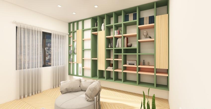 Geppy's Library Interior Design Render