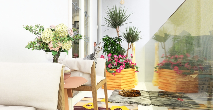 Me as a Cat lady Interior Design Render