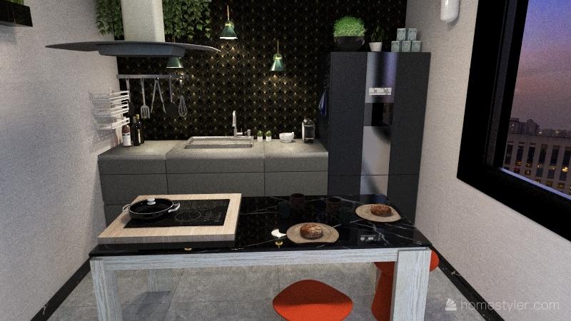 "Cucina 12mq"" Interior Design Render"