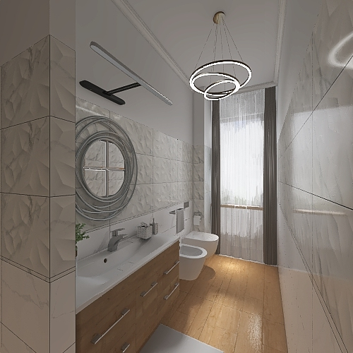 bagno in zona giorno Interior Design Render