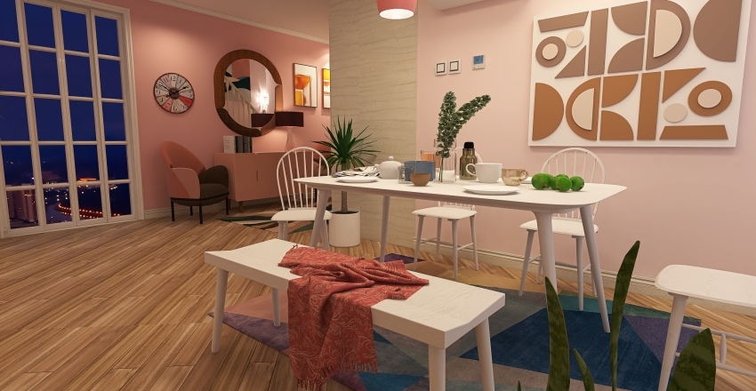 whith home Interior Design Render