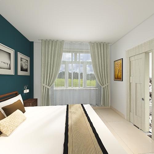 Casa balconata Interior Design Render