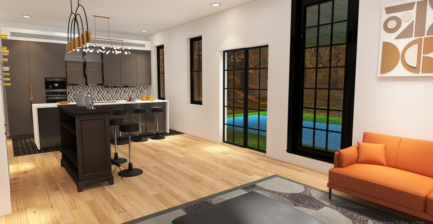 Ali's Dream Home Interior Design Render
