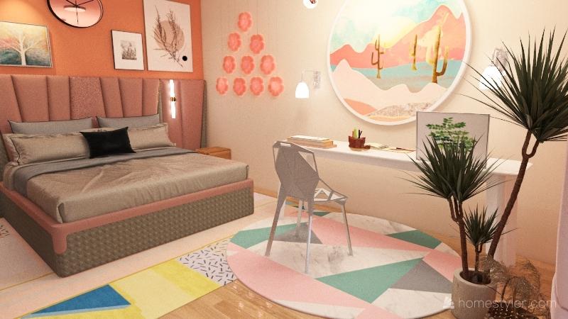 another bedroom Interior Design Render