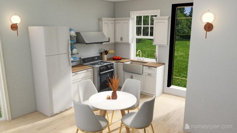 Lauren's Tiny House Interior Design Render
