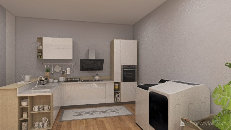 Urban Studio Apartment Interior Design Render