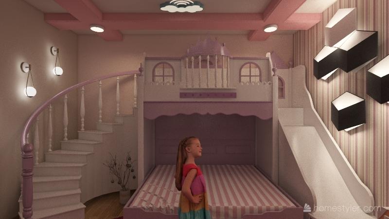 غرفة اطفال Interior Design Render