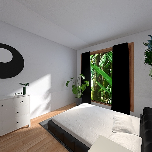 Casa en la selva Interior Design Render