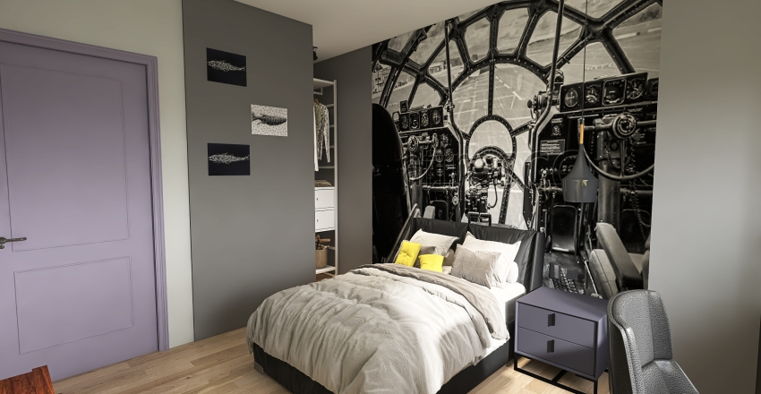 жк Основа 3ех комнатная 102кв.м. Interior Design Render