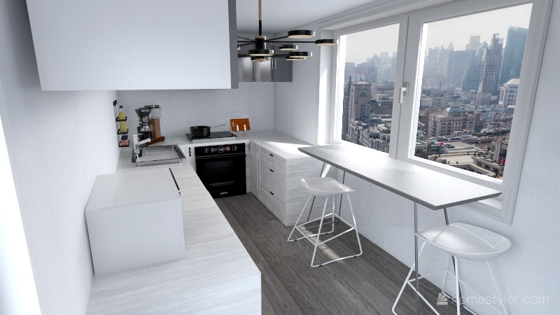 "Cucina 9mq"" Interior Design Render"