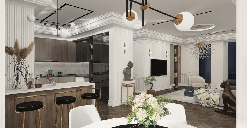 Art of the Boiserie Interior Design Render
