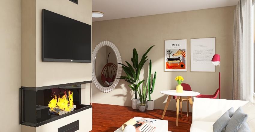 Pequeño departamento colorido Interior Design Render