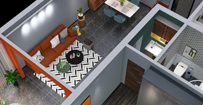 Copy of Modern Cheerful Palette Interior Design Render