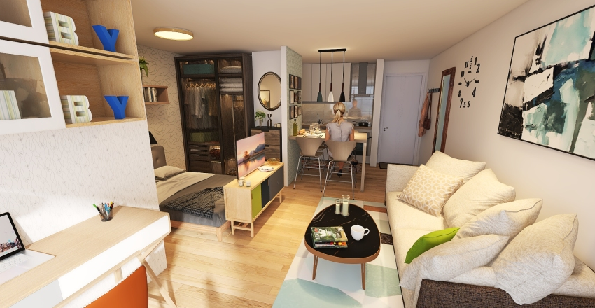 Campinas Studio 4 Interior Design Render