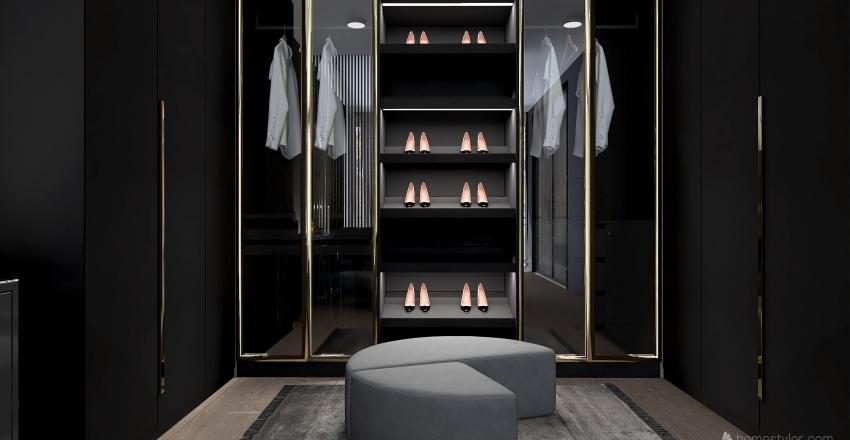 New York Penthouse Interior Design Render
