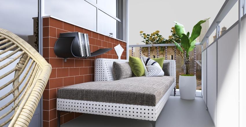 Balcony Interior Design Render